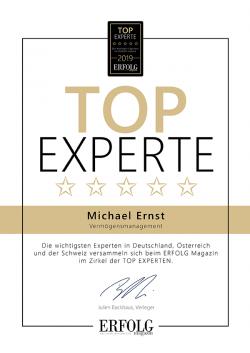 Zertifikat von Michael Ernst